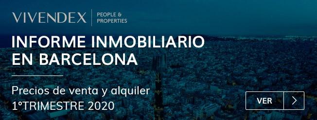 Informe Inmobiliario en Barcelona 1º trimestre de 2020
