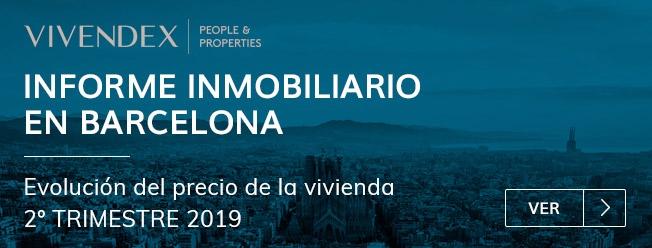 Informe Inmobiliario en Barcelona 2º trimestre 2019