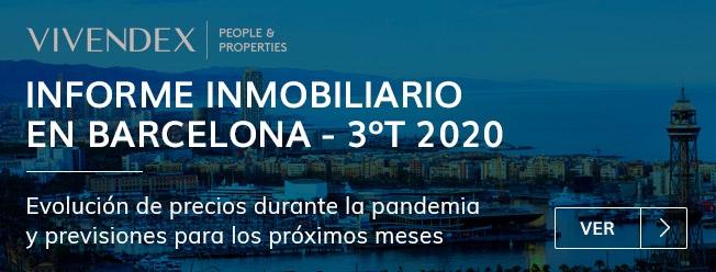 Informe inmobiliario 3º trimestre de 2020 en Barcelona