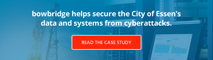 bowbridge helps secure the City of Essen's data and systems from cyberattack. Read the case study.