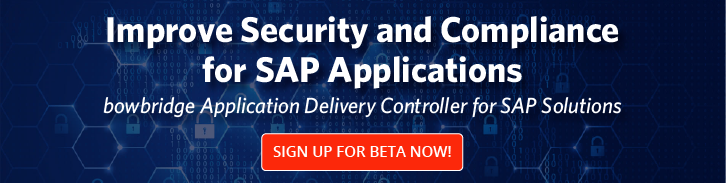 Application Delivery Controller for SAP Solutions