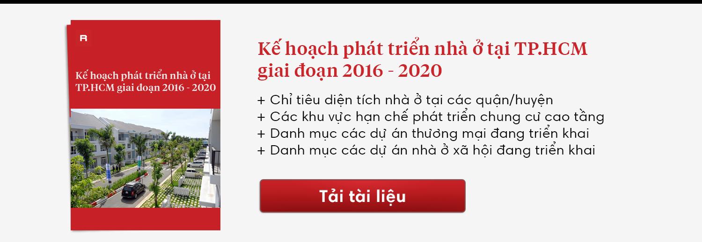 Kế hoạch phát triển nhà ở tại TP.HCM giai đoạn 2016 - 2020