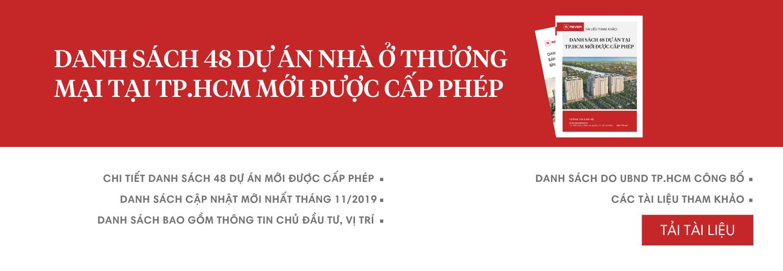 Danh sách các dự án tại TP.HCM mới được cấp phép