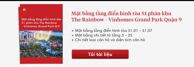 Layout toà S1 phân khu The Rainbow