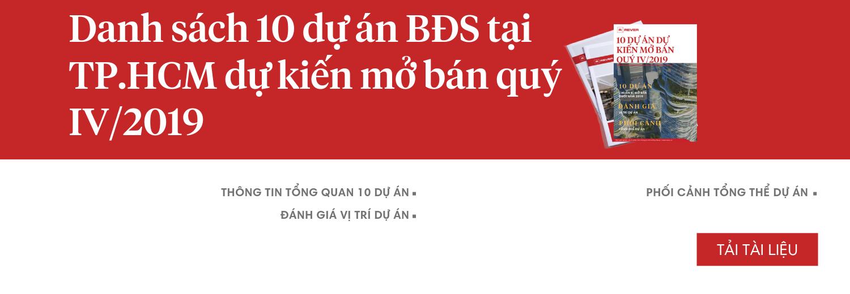 10 dự án BĐS dự kiến mở bán quý IV/2019