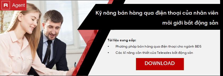 Tải ngay bộ tài liệu về Bán hàng qua điện thoại cho ngành BĐS