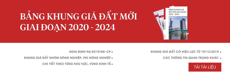 Bảng khung giá đất giai đoạn 2020 - 2024