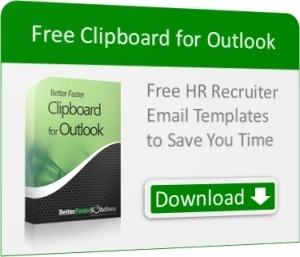 Clipboard for Outlook Free HR Recruiter Email Templates
