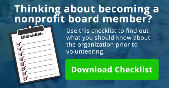 Nonprofit Board Member Checklist