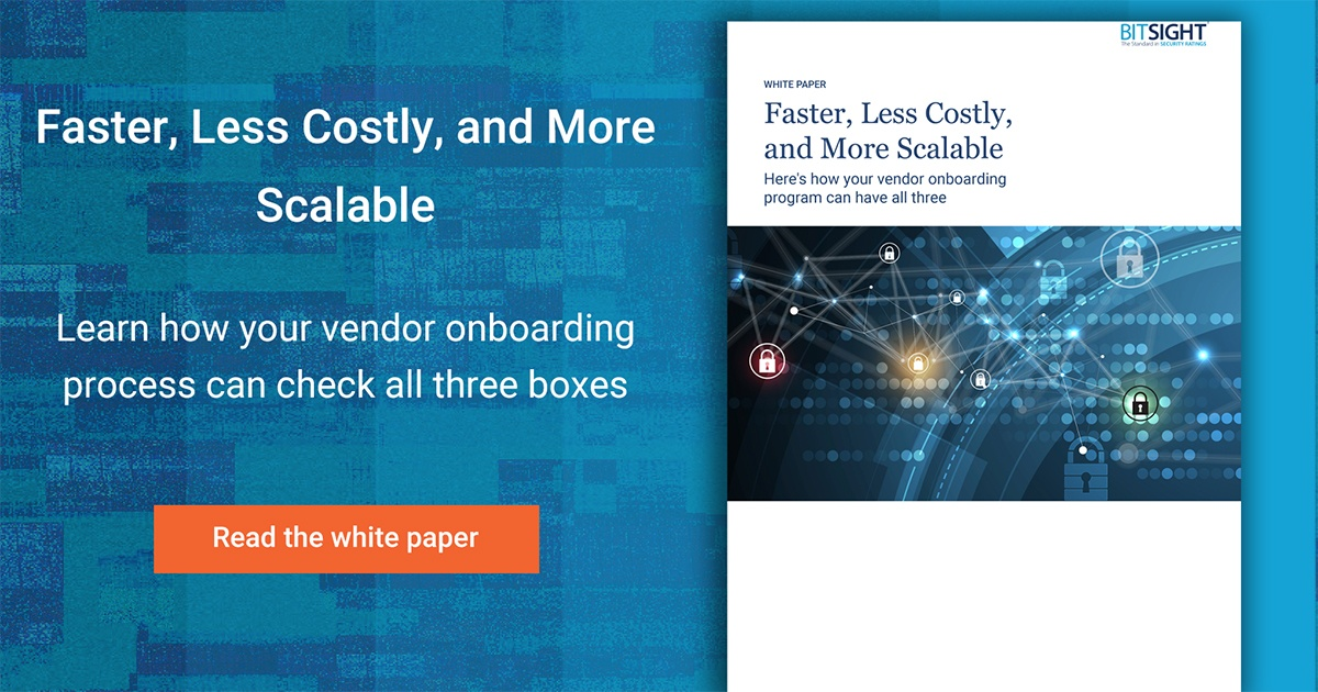 Faster, less costly, and more scalable vendor onboarding
