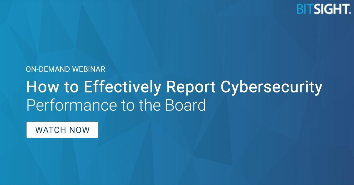 reporting cybersecurity to the board