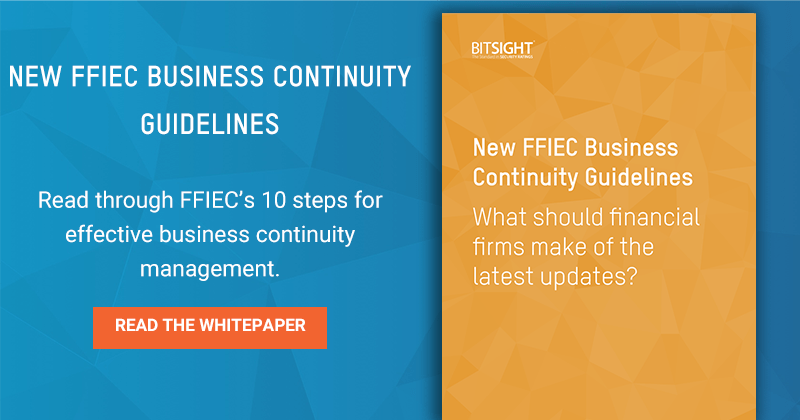 New FFIEC Business Continuity Guidelines