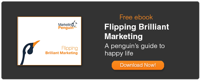 Flipping Brilliant Marketing - penguin guide to happy life