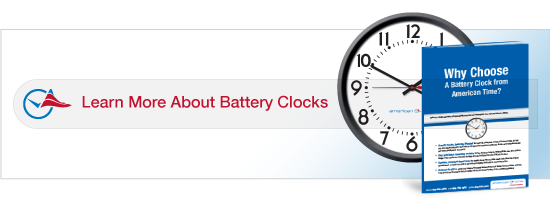 Download our essential guide to selecting the right battery powered clocks for your facility.