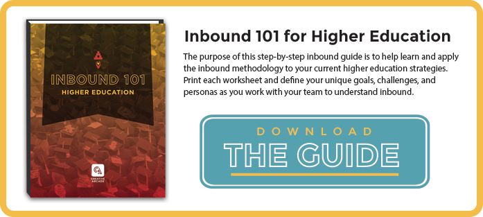 Inbound 101 Higher Ed CTA
