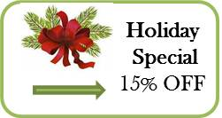 15% off Holiday Special