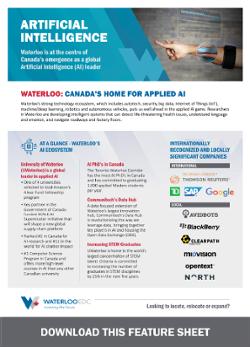 Waterloo EDC Artificial Intelligence Feature Sheet