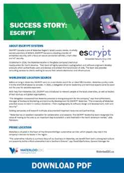 Waterloo EDC ESCRYPT Success Story - Download PDF
