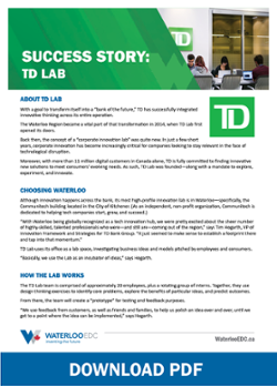 TD Lab Success Story - Waterloo EDC - Download PDF