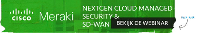 NextGen Cloud Managed Security & SD-WAN - Bekijk de Webinar