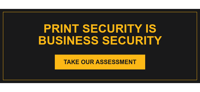 Print Security is Business Security Take Our Assessment