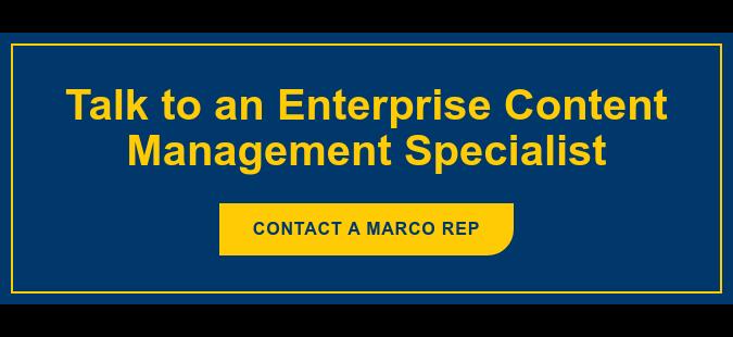 Talk to an Enterprise Content Management Specialist Contacta Marco Rep