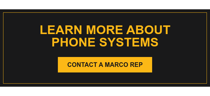 Create a telephone system that meets your business communication needs. Contact a Marco Rep
