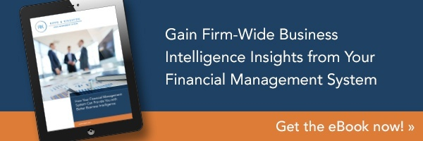 Gain Firm-Wide Business Intelligence Insights from Your Financial Management System