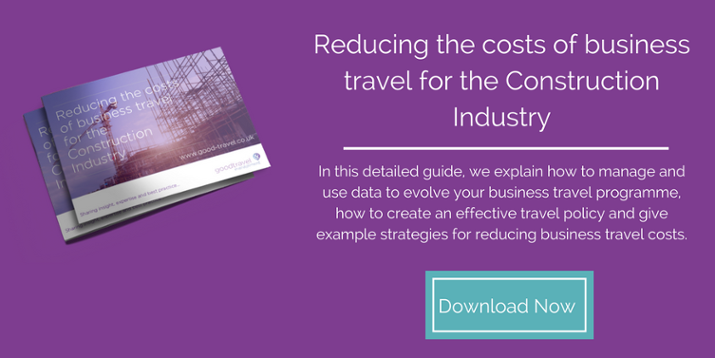 Reducing the costs of business travel for the Construction Industry