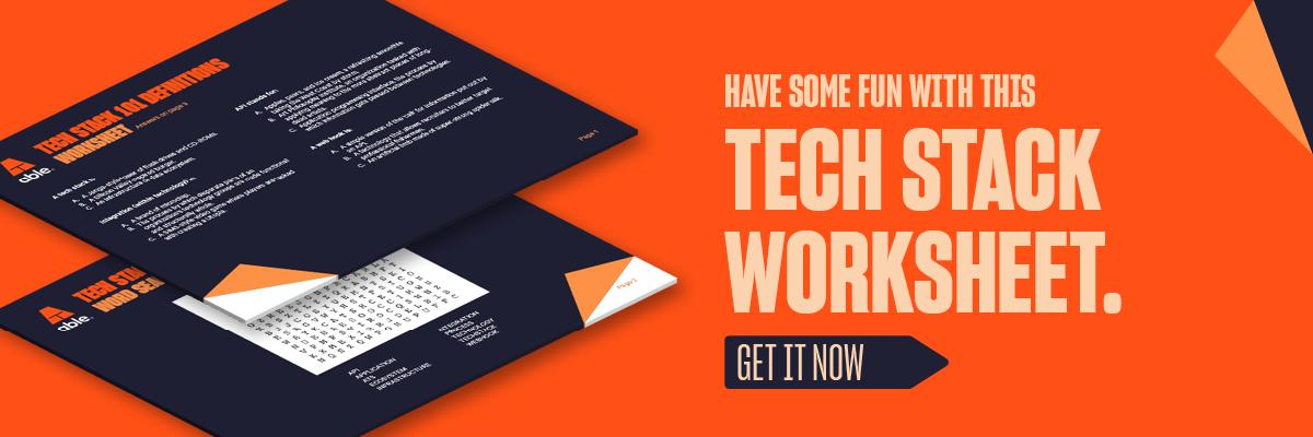 Tech Stack 101 worksheet