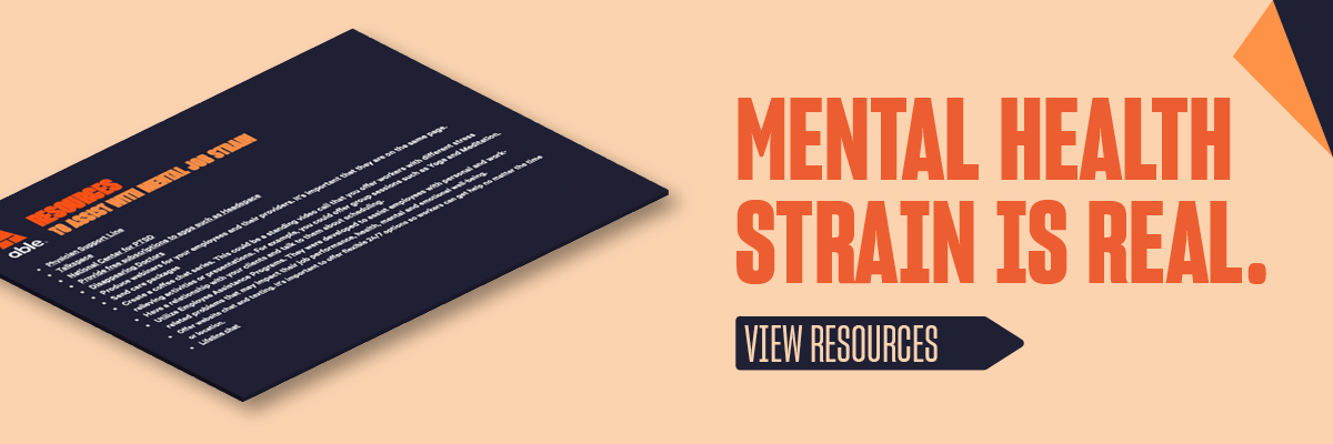 Resources to help with mental health strain on the job