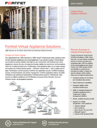 Fortinet Virtual Appliance Solution Data Sheet