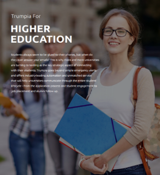 Text Messaging Higher Education Brochure