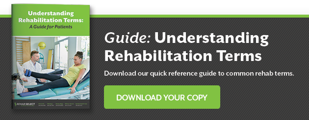 Understanding Rehabilitation Terms
