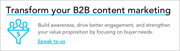 Transform your B2B content marketing