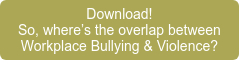 Download! So, where's the overlap between  Workplace Bullying & Violence?