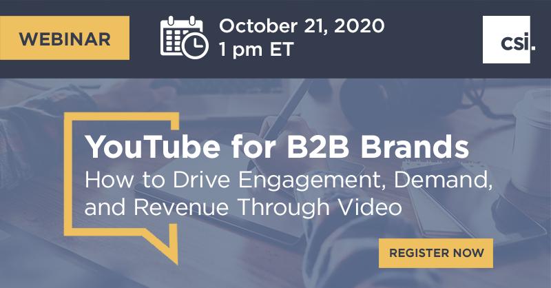 YouTube for B2B Brands Webinar