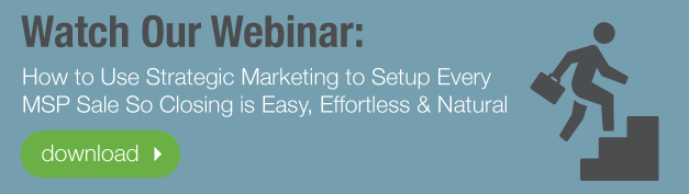 Webinar-How to Use Strategic Marketing to Setup Every MSP Sale So Closing is Easy, Effortless and Natural