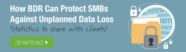 How BDR Can Protect SMBs Against Unplanned Data Loss Chart