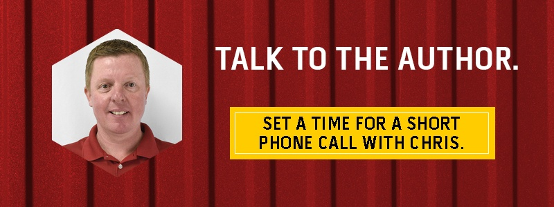 Talk to the author - set a time for a short phone call with Chris