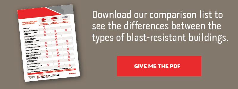 blast-resistant building comparison