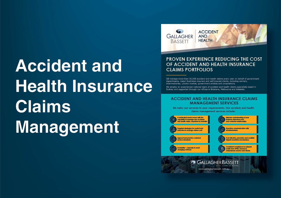 Accident and Health Insurance Claims