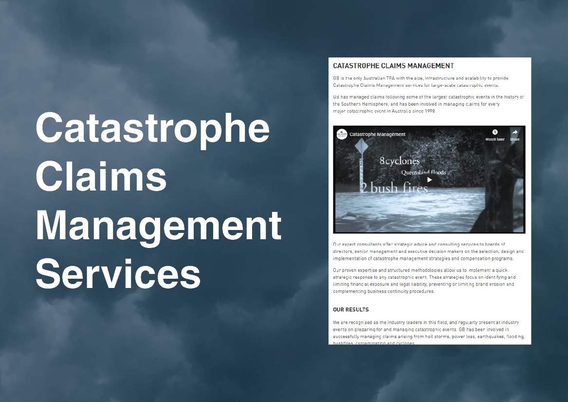 CATASTROPHE CLAIMS MANAGEMENT SERVICES