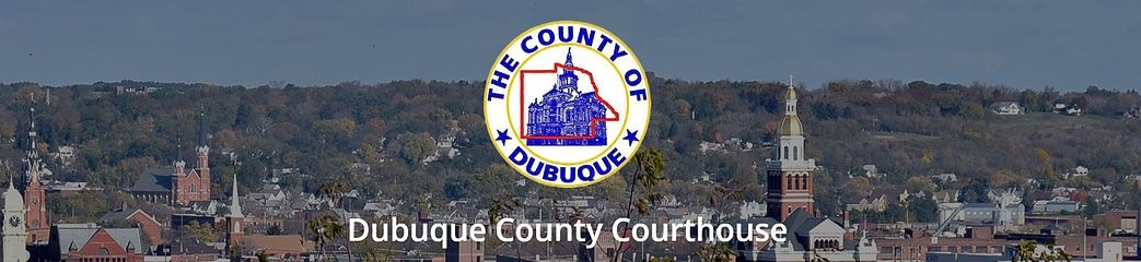 dubuque county courthouse logo and photo background