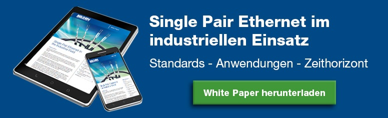 Single Pair Ethernet im industriellen Einsatz - White Paper
