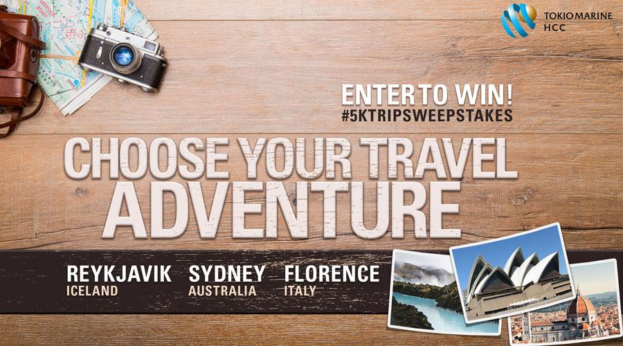 choose your travel adventure 5k trip sweepstakes cta