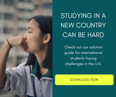 Check out our solution guide for international students facing challenges in the U.S.