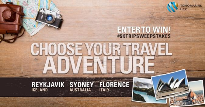 choose your travel adventure $5k trip sweepstakes