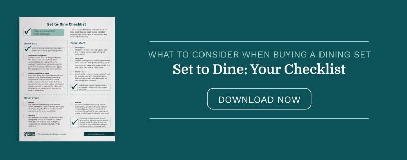 Set to Dine: A Checklist for Buying A Dining Set
