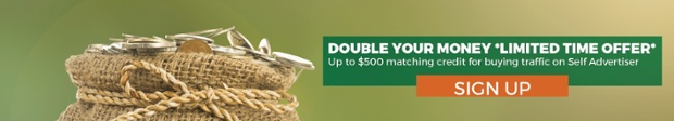 Double Your Money - up to 100USD matching credit